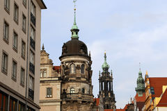 Historical center of Dresden (landmarks), Germany Stock Image