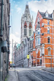 Historical center of Dublin, John's Lane Church Stock Image