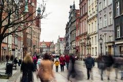 Historical center of Gdansk Stock Image