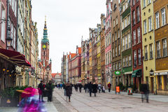 Historical center of Gdansk Royalty Free Stock Photography