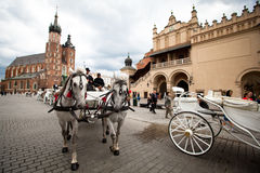 Historical center of Krakow Royalty Free Stock Photo