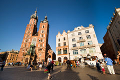 Historical center of Krakow Royalty Free Stock Image