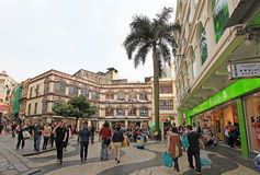 Historical center of Macau Stock Images