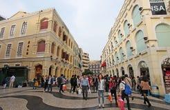Historical center of Macau Royalty Free Stock Photos