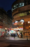 Historical center of Macau by night Stock Image