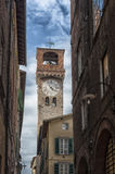 The historical center of the medieval city of Lucca, Tuscany. Italy Royalty Free Stock Photography