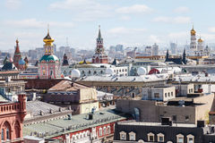 Historical center of Moscow city with Kremlin Royalty Free Stock Photo