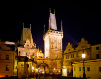 Historical center at night,  Prague Stock Photo