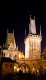 Historical center at night, Prague, Royalty Free Stock Photos