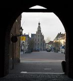 Historical center of an old Dutch town Stock Image