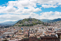 Historical center of old town Quito Stock Image