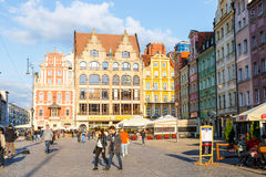 Historical center of old town in Wroclaw, Poland Stock Photo