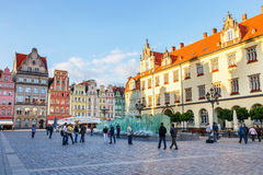Historical center of old town in Wroclaw, Poland Stock Images