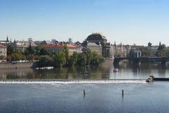 Historical Center of Prague. And Vltava river, Czech Republic Royalty Free Stock Photography