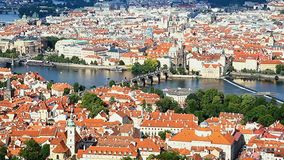 the historical center of Prague stock footage