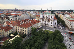 Historical center of Prague. View from the Old Town Hall Royalty Free Stock Images