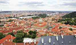 Historical center of Prague. (View from the tower of Saint Vitus Cathedral Stock Images
