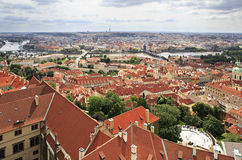 Historical center of Prague. (View from the tower of Saint Vitus Cathedral Stock Photo