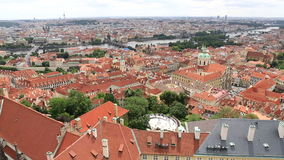 Historical center of Prague stock video footage