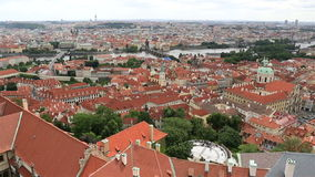 Historical center of Prague (View from tower of Saint Vitus Cathedral). stock footage