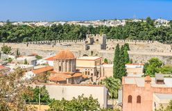 Historical center of Rhodes. Old Town. Rhodes Island Stock Photos