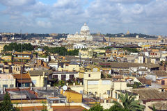 Historical center of Rome from the height Royalty Free Stock Image