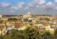 Historical center of Rome from the height Royalty Free Stock Photos