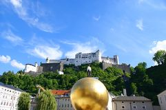 Historical Center in Salzburg, Austria Royalty Free Stock Photography