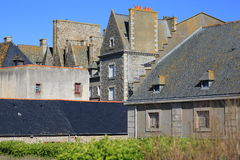 Historical center San Malo, France. The medieval centre of San Malo in the North of France royalty free stock image