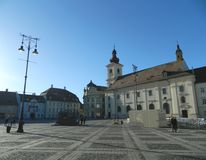 Historical Center  of Sibiu. Royalty Free Stock Photo