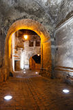 Historical center of Sighisoara at night Royalty Free Stock Photo