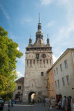 Historical center of Sighisoara, Romania royalty free stock photos