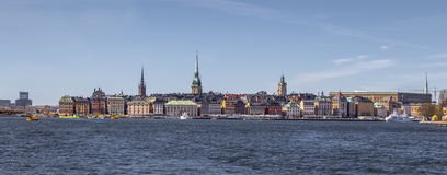 The historical center of Stockholm Royalty Free Stock Photography