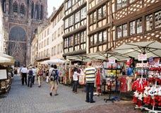 Historical center of Strasbourg Royalty Free Stock Photos