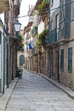 Historical Center street, Guimaraes, Portugal Royalty Free Stock Image