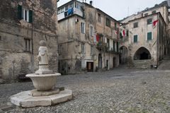 Historical center of Taggia Stock Images