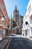 Historical center in Truro, Cornwall, UK. Detail of historical center in Truro, Cornwall, UK royalty free stock photography