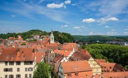 Historical center of Tubingen, Baden-Wurttemberg, Germany Stock Image