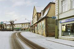 Historical center of Tukums. Stock Images