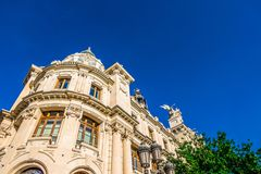 The historical center of the Valencia city, Spain. The historical center of the Valencia city Royalty Free Stock Photography