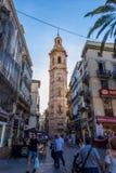 The historical center of the Valencia city, Spain. The historical center of the Valencia city Stock Photos