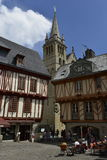 Historical Center of Vannes, Brittany, France Royalty Free Stock Photo