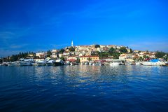 Historical center of vrsar, city in istria, croatia stock photos