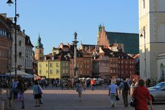 Historical center of Warsaw Poland royalty free stock image
