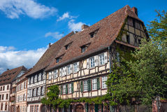 Historical center of the Wissembourg, Alsace, France Stock Photography