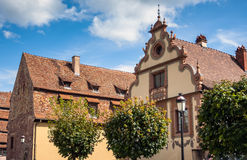 Historical center of the Wissembourg, Alsace, France Royalty Free Stock Image