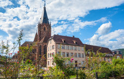 Historical center of the Wissembourg, Alsace, France Royalty Free Stock Photography