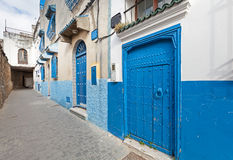 Historical central part of Tanger city, Morocco Royalty Free Stock Photos