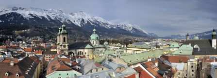 Historical Centre of Innsbruck Royalty Free Stock Image