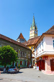 Historical centre of Medias, medieval city in Transylvania, Romania Royalty Free Stock Image